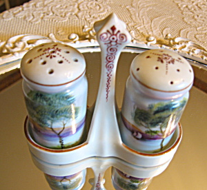 Hand Painted Oriental Shaker Set