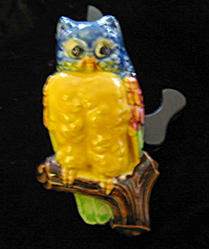 Vintage Owl Wallpocket