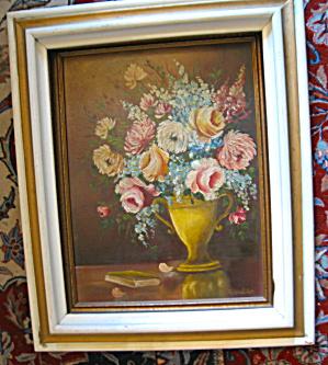 A. Walker Floral Painting Vintage (Image1)