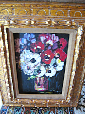 Unframed Floral Oil Painting Vintage