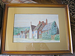 Vintage Artist Signed Water Color