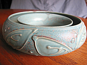 Signed Art Pottery Pansy Ring (Image1)