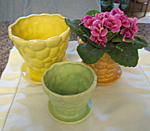 Vintage Brush Pebble Pots