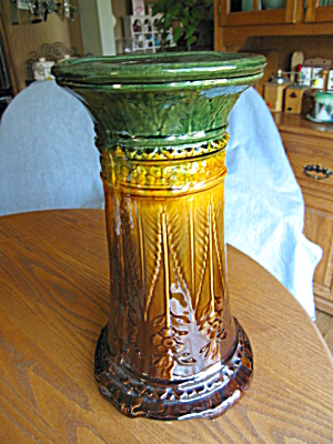 Antique Pottery Pedestal