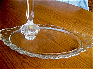 German Perfume Bottle And Glass Tray