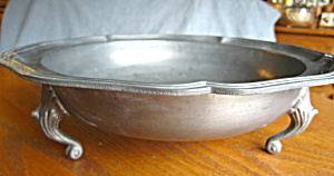Vintage Continental Pewter Footed Bowl