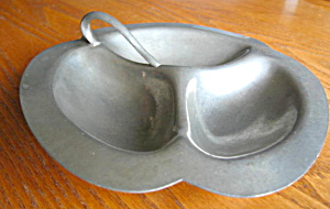 Vintage Pewter Divided Tray