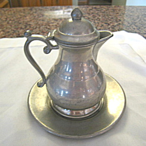 Trinac Vintage Pewter Syrup Pitcher