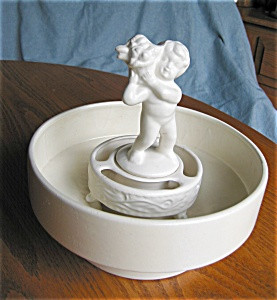 Haeger Vase and Cherub Flower Insert (Image1)