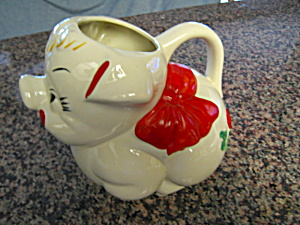 American Bisque Pig Pitcher (Image1)