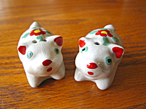 Vintage Pottery Pig Shakers
