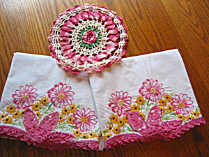 Embroidered Vintage Pillow Cases