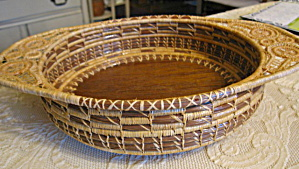 Pine Needle Basket Bowl Tray