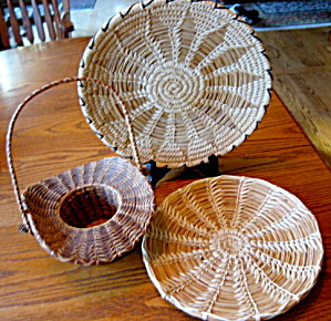 Native American Basket Trio