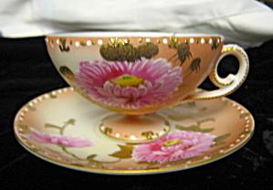 Vintage Enameled Pink Lotus Teacup (Image1)
