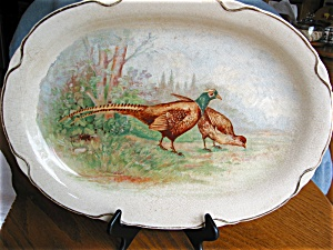 Antique Game Platter