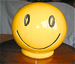 Vintage Mccoy Happy Face Bank
