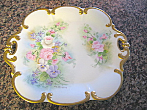 Vintage Tirshenreuth German Signed Tray