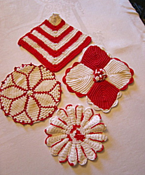 Four Hand Made Pot Holders