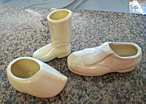 Vintage Pottery Shoe Trio