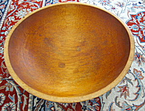 Huge Antique Hand Turned Wood Bowl