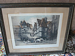 Vintage Bennett Print - The Market Place
