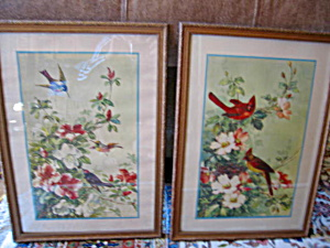 Two Vintage Bird Prints