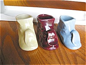 Vintage Pottery Shoe Planters (Image1)