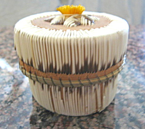 Native American Quill Basket