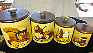 Ransburg Vintage Kitchen Cannister Set