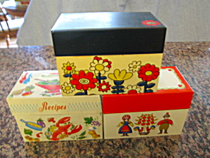 Vintage Receipe Boxes Ohio Art (Image1)
