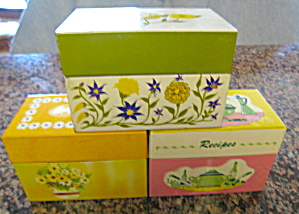 Recipe Boxes & Recipes Vintage