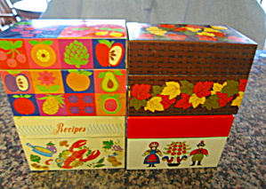 Collectible Metal Recipe Boxes