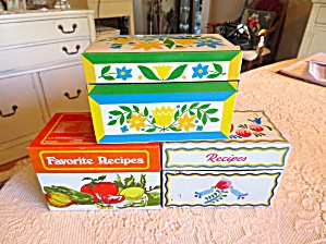 Recipe Box Vintage Trio