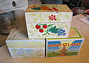 Recipe Box Trio Vintage