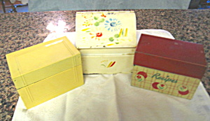 Recipe Boxes W/recipes Vintage