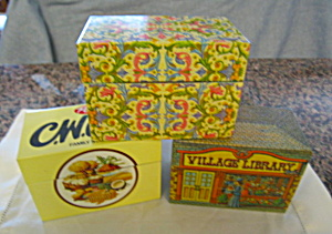 Metal Recipe Boxes Collectible Vintage