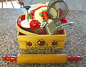 Red Kitchen Collectibles Basket