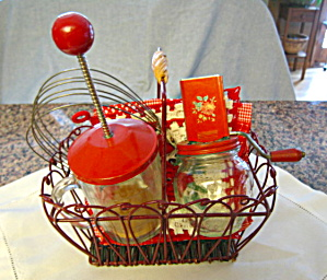 Vintage Red Kitchen Accessories
