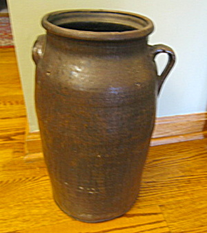 Antique Redware 4 Gallon Churn (Image1)