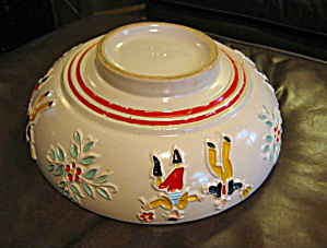 Red Wing Dancing Peasants Bowl