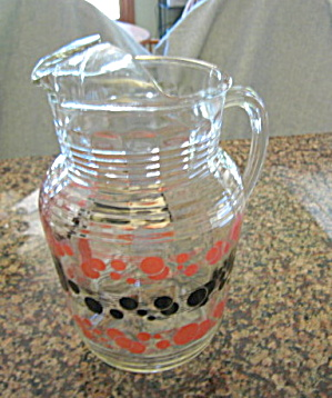 Retro Glass Lemonade Pitcher
