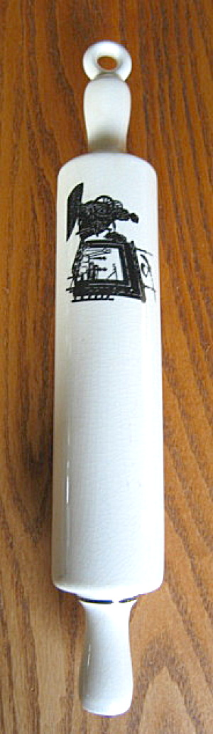 Ceramic Vintage Silouette Rolling Pin