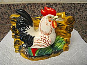 Rooster Planter Vintage Japan  (Image1)