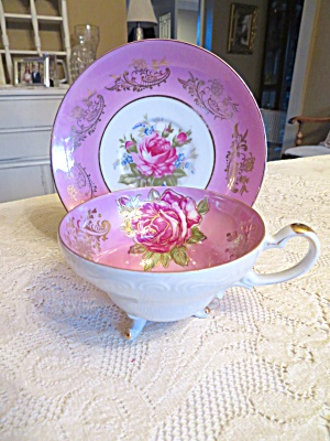 Royal Halsey Footed Rose Teacup