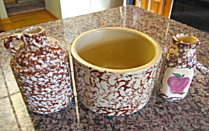 Spongeware Pottery Assortment