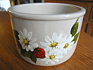 Ransbottom Butter Crock W/daisies