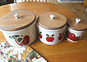 Ransbottom Stoneware Crocks Apples