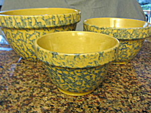 Ransbottom Spongeware Shoulder Bowls