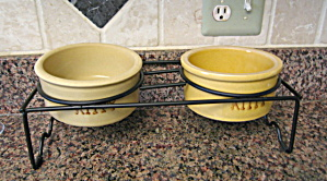 Ransbottom Kitty Bowls And Stand